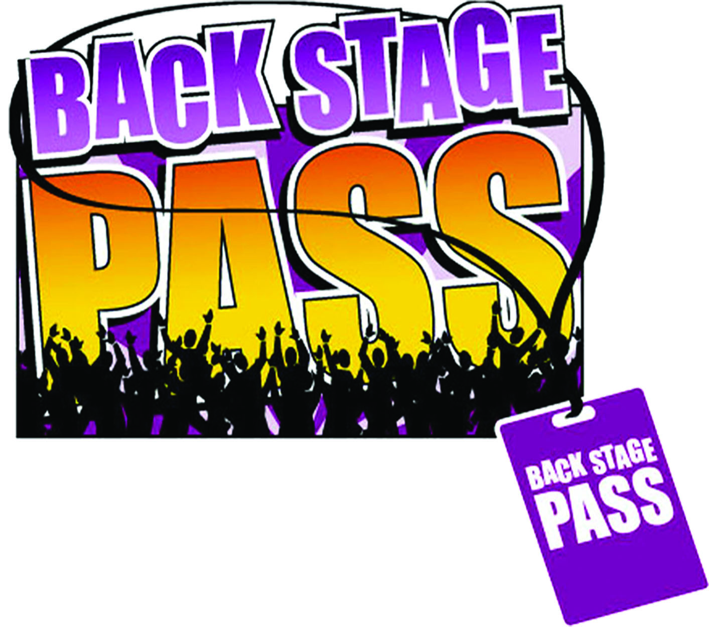 Backstage Pass - Graphic with Crowd and Lanyard